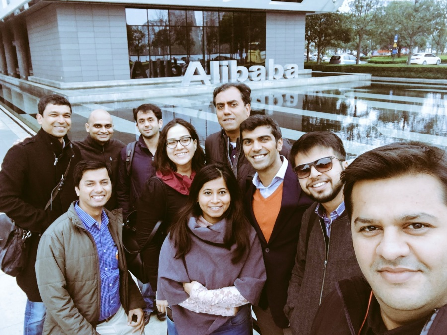 Team Blume in front of Alibaba HQ in Hangzhou